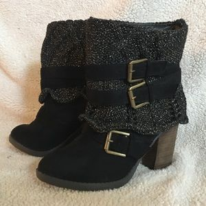 Venus Sweater Buckle Bootie